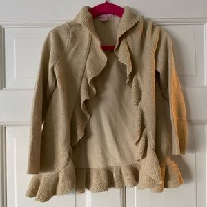 Lilly Pulitzer gold metallic cardigan sweater 4/5